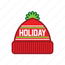 chrismass, hat, ugly icon