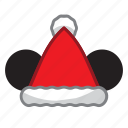 hat, mouse, santa icon