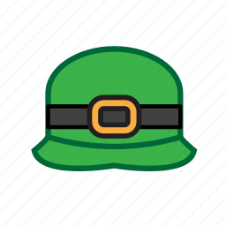 green, hat, irish icon