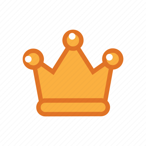 gold, hat, king icon