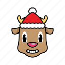 deer, holiday, winter icon
