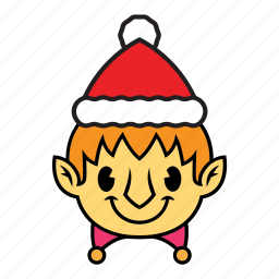 elf, holiday, winter icon
