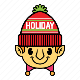 elf, holiday, winter icon