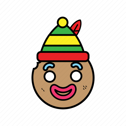 ginggerbread, holiday, man icon