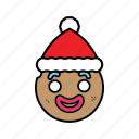 ginggerbread, holiday, santa icon