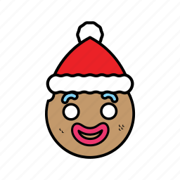 ginggerbread, holiday, santa icon