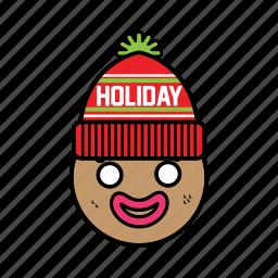 ginggerbread, man, winter icon