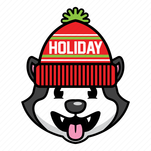 dog, holiday, husky icon