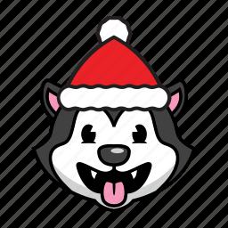 dog, holiday, husky icon
