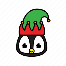 holiday, pinguin icon