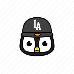 city, pinguin, snapback icon