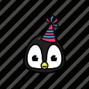 pinguin, winter icon