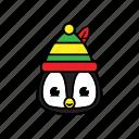 holiday, pinguin, winter icon