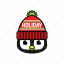 party, pinguin, winter icon