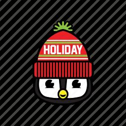 party, pinguin, winter icon