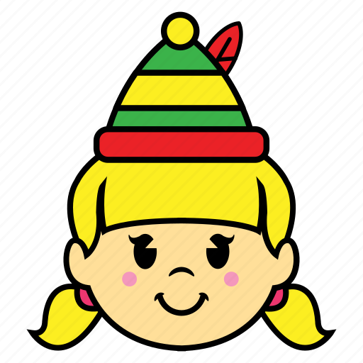 girl, holiday, smile icon