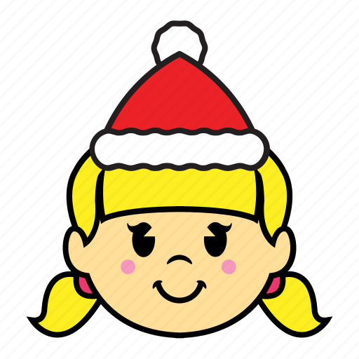 girl, holiday, smile icon