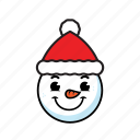 holiday, man, snow icon