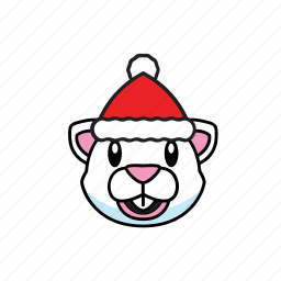 holiday, mouse, white icon