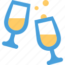 champagne, glasses icon