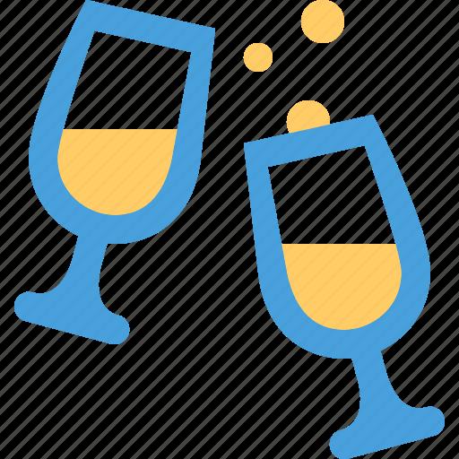 champagne, glasses icon