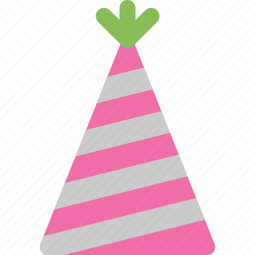 cone, hat, party icon