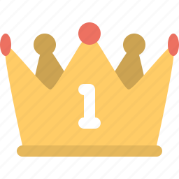 crown, king, one, win icon