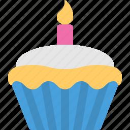 birthday, cake, cupcake icon