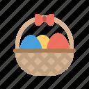 basket, easter, egg