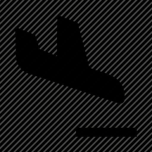 aeroplane, airplane, airship, jet, land, landing, plane icon