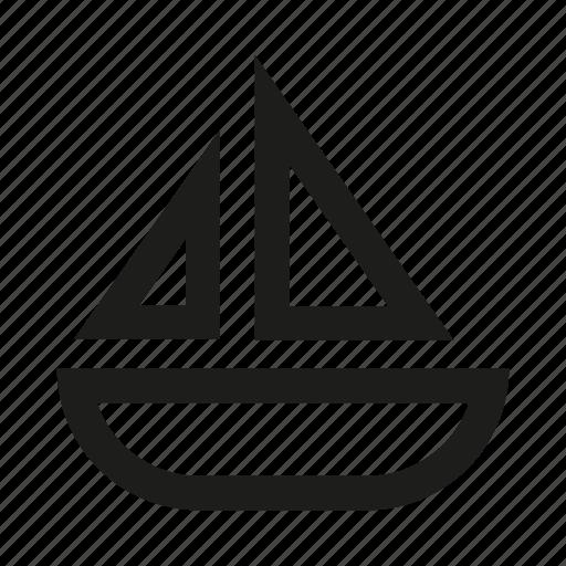 boat, bucket, craft, launch, ship, tub icon