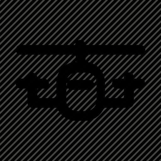 autogiro, chopper, copter, eggbeater, whirlybird icon