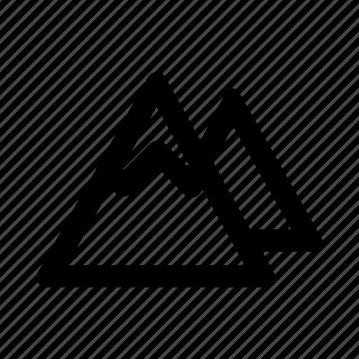 hill, mountain, peak, pile, snow icon