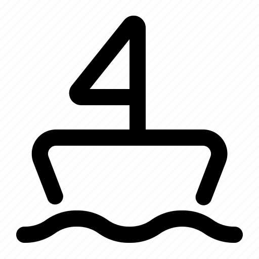 boat, sail, ship, travel icon
