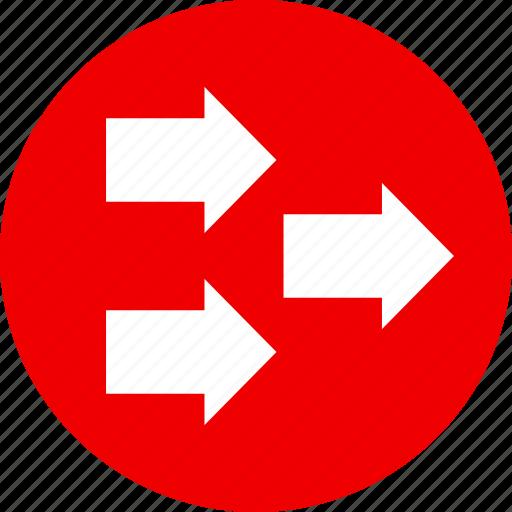 arrows, right icon