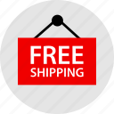free, shipping, sign icon