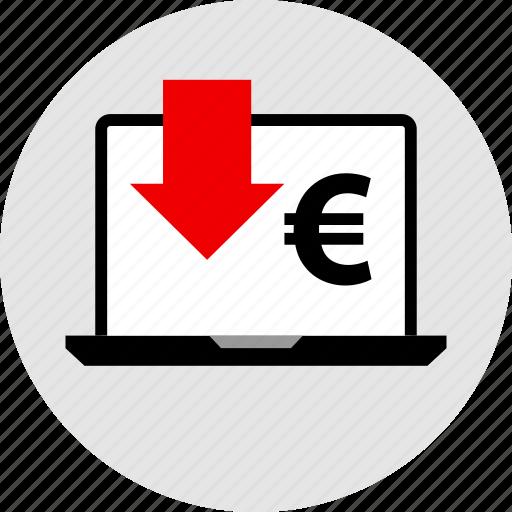 euro, low, sales icon