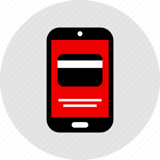 credit, mobile, payment icon