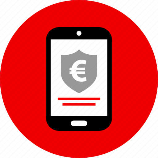 euro, funds, secured icon