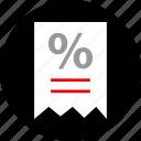 receipt, sales, shop icon