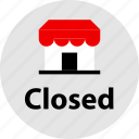 closed, shopping, store icon