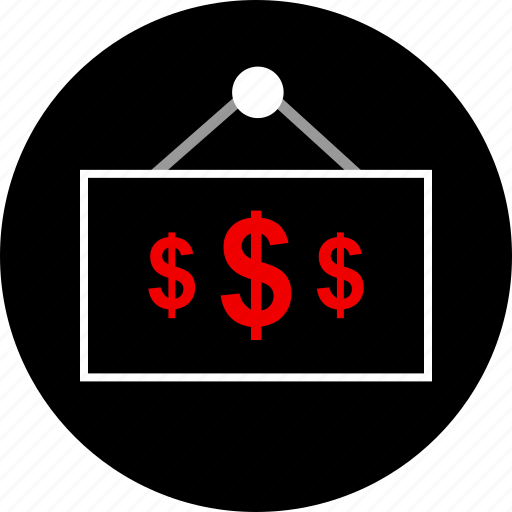 dollar, shopping, sign, store icon