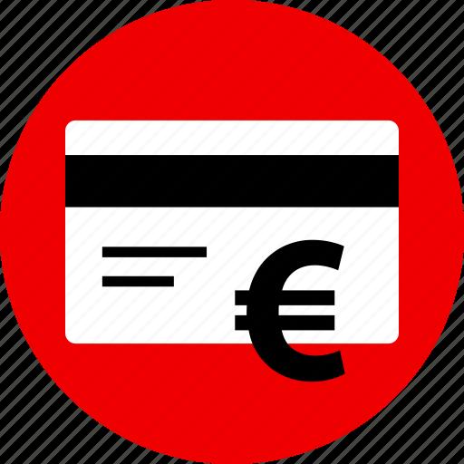 card, credit, euro, shopping icon
