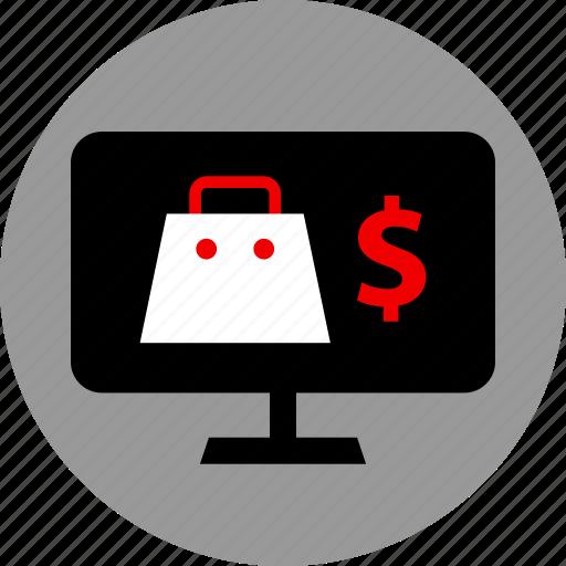 bag, dollar, ecommerce, shop icon