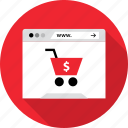add, browser, cart, online, shop, shopping icon