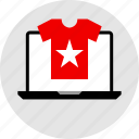 clothing, store, tee icon