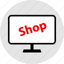 computer, online, sell icon