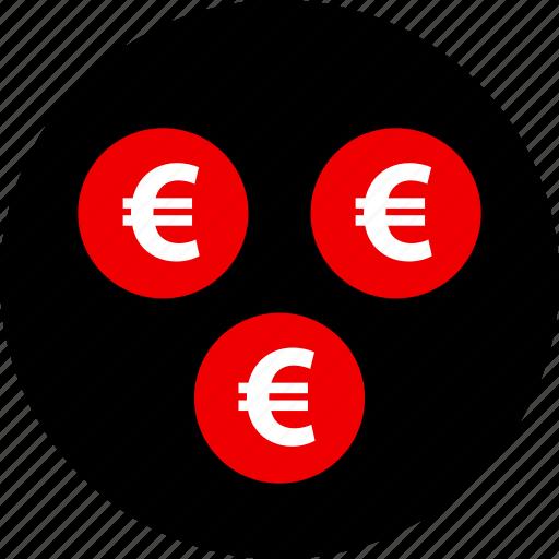coins, euro, money, sign icon