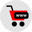 cart, internet, www icon