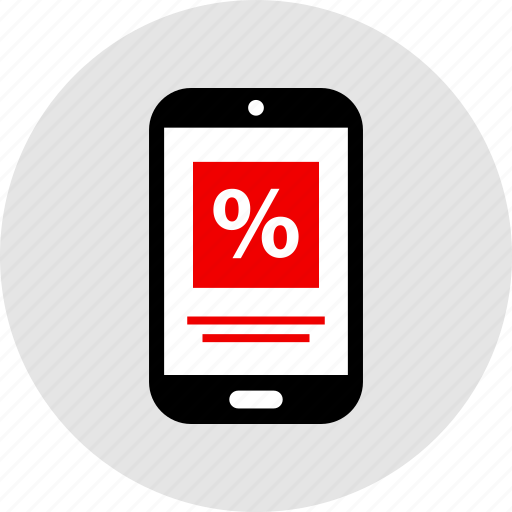 mobile, percentage, rate icon